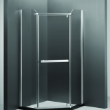 Classical simple diamond pivot shower enclosure