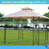 flexible sun shade for roof patio gazebo with air vent wrought iron frame affording shade and rest