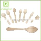 Custom Printing Logo Disposable Wooden Chip Forks