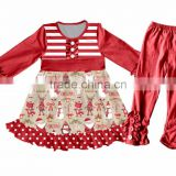 2017 yiwu children clothes fall girls tunic clothing sets wholesale ruffle pants outfit kids clothing baby clothes