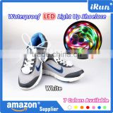 Christmas Night Crazy Shoe Laces Flashing Led Shoelaces Light Up Shoelace Glow In The Dark - Top Quality LED White Shoelaces