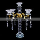 high quality 5 arms crystal centerpieces votives candle holders suitable for wedding decoration