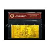 Custom AUD USD EURO Pounds Plated 24K Gold Banknote ,Gold Paper Money