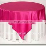 Satin fabric table overlay wedding satin overlay cheap round table overlay decorative satin table overlay