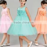 2017 Children's wear bead embroidery flower wedding dress evening party dress