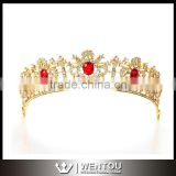 Wholesale Gold Crystal Headband Bridal Tiara Hair Hoop