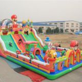 Super Mario inflatable castle slide