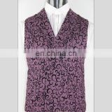 Super quality hot sell solid color draped front vest for men