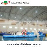 Inflatable Penguins and Polar Bears Water Obstacle Course , Water Park Obstacle Games For Kids And Adults