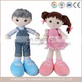 China cheap handmade cotton baby stuffed plush rag doll wholesale