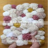 felt pom pom ball rug for baby