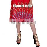 Indian Short Mandala Printed Skirt Stretch Waist Ethnic Casual Skirt Bohemian Women skirt wrap New Women Rayon short skirts