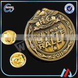4 pin 3D die cast Metal Brass Blank Pin Badges