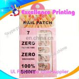 hot sale self adhesive populer paper printing nail stickers