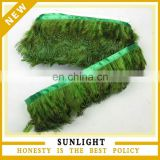 cheap feather fringe green pheasant feather trim