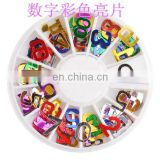 Latest colorful boxed nail product nail arts design