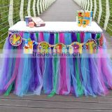 Hot Sale New Customized Tutu Tableware Tulle Table Skirt Party Wedding Decorations Best Price Gift SD103