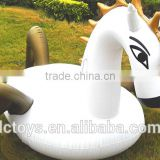 2016 Top sale inflatable floating cartoon boat/ inflatable lay goose toy for children swimming