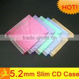 color/clear/black slim single 5.2mm cd dvd storage case