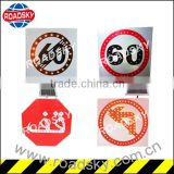 Speed Limited White Aluminum Led Road Signs