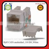 Cat6 RJ45 Punch-Down Keystone Jack