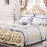 Royal silver and purple bedding set Luxury wedding bedding set 100% cotton embrodiery bridal bedding commerical bedding set
