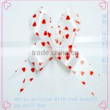 Beautiful White Printed& Embossed PP Butterfly Pull Bow/Curly Ribbon Butterfly bow/Star Ribbon Bow/Fancy Ribbon bow