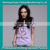Wholesale Hip Hop Clothing Custom T Shirt Printing Women's Custom Made Private Label Clothing Manufacturers