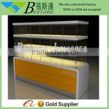 durable wood glass bread display cabinet showcase for bakery store