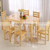 Customize 100% Solid Wood Restaurant Furniture, Pine Wood Table and Chair Wholesale                                                                         Quality Choice