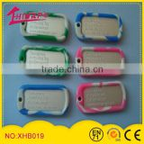 Silicone wholesale lcd dog tag and customized pet id dog tag