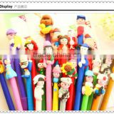 Personalised Souvenir Plastic Cartoon Ball Pen For Kids As A Gfit, High Quality Promotional Plastic Ball Pen