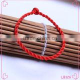 Simple fashion red string bracelet with silver bead charm benmingnian woven bracelet