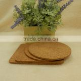 Custom logo & size wholesale blank mdf cork wood coaster/cork coaster backing