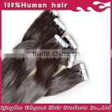 2015 8A High quality best selling remy human tape hair extension in wholesale price on aliexpress