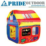 Foldable Pop Up Play Tent with 2 Doors and 2 Mesh Windows Pvc Child Game House Kids Single Layer Play Camping Tent