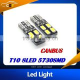 2015 new product T10 Canbus bulb 194 168 W5W 5630 5730 8LED SMD Car Side Wedge Light Bulb Error Free Auto Car clearance light