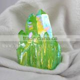 Wholesale Green Aura Quartz Healing Stones and Crystals, Spirit Quartz, hybrid crystal cluster