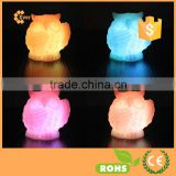 Owl Animal Shaped Lights Automaic Multi-color Changing LED Candle Realistic Wax