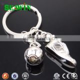 Gift 3D Mini Metal Football Keychain