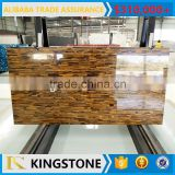 dark yellow gemstone tiger eye stone for slab