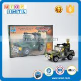 Hot Selling New Toys For Kids Educational Baby Baby DIY Building Block Army Jeep Classic Game