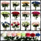 Artificial French Rose Artificial SILK DIY Wedding Posy Flowers Single Stem Home decoration AF058