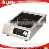3500W electric kitchen catering equipment restaurant stainless steel induction fryer induction cooker ceramic glass