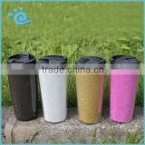 Food Grade 450ML Personalizd Double Wall PS insulated Coffee Mug with Glitter paper insert