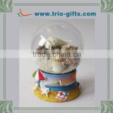 Decorative customized clear glass balls snow dome