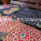 Tropical Kantha Handmade Quilt, Queen Size Reversible Kantha Bedding, Handstiched By Artisians of India, Hand Art Kantha Work