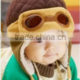baby cute plush pilot hat/plush hat/baby Hat provide ears/Fashion Design Cute Pilots Hat