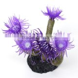 New Hot Sale Artificial Fake Silicone Ceramic Sea Anemone Coral Aquarium Fish Tank Ornament Decoration Aquatic Water Plant Pets