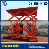 2000kgs 2ton Electric small mini scissor lift table double scissor lift table hydraulic scissor lift table
